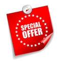 Vector special offer sticker over white Stock Photography