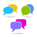 Vector speech bubble icons set communication symbols Stock Image