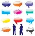Vector speech bubbles shapes.