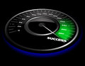 Vector speedometer abstract illustration of a Royalty Free Stock Image