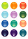 Vector spheres Stock Images
