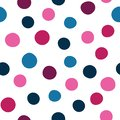 Vector spots seamless pattern background of hand drawn polka dots, random spots in various sizes. Stylish abstract