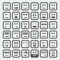Vector square faces set cartoon Royalty Free Stock Photography