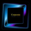 Vector square logo abstract background Royalty Free Stock Photo