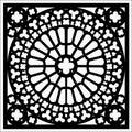 Vector square ornament