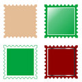 Vector square postage stamp Royalty Free Stock Photo
