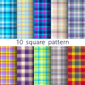 10 vector square seamless patterns. Texture can be used for wallpaper, fill, web background, texture. Royalty Free Stock Photo