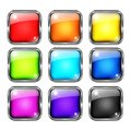 Colorful web buttons design vector set Royalty Free Stock Photo