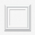 Vector square white frame
