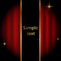 Vector stage background sparkles Royalty Free Stock Photography