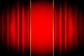 Vector stage frame illustration of red Royalty Free Stock Image