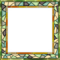 Vector stained-glass window frame for photography. Royalty Free Stock Photo