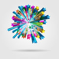 Vector Star Burst Royalty Free Stock Photo