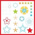 vector Star logos Royalty Free Stock Photo