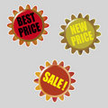 Vector stars for discount prices Royalty Free Stock Photos