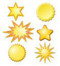 Vector stars set of star shapes Royalty Free Stock Photography