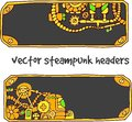 Vector steampunk headers for design of sites Stock Image