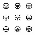 Vector Steering wheels icon set Royalty Free Stock Photo