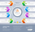 Vector steps option arrow banners Infographic design. Eps 10.