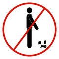 Vector stick figure man, black and white, prohibited, forbidden