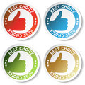 Vector sticker - best choice Stock Images