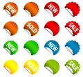 Vector stickers Stock Photography