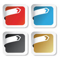 vector Stickers with arrow tape Royalty Free Stock Photo