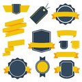 Vector Stickers and Badges Set 2. Flat Style.