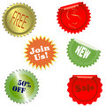 Vector stickers collection Royalty Free Stock Photos