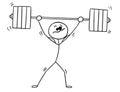 Vector Stickman Cartoon Of Wei...