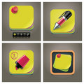 Vector sticky note icon set Stock Photography