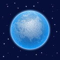 Vector stippled world stylized globe with atmosphere.