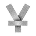 Vector Stippled yen or yuan sign icon. Yen or yuan currency symbol.