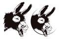Vector stock illustration. Laughing donkey. Royalty Free Stock Photo