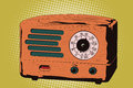 Vector stock illustration. Old radio