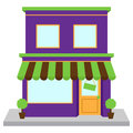 Vector Store Front or Shop with Window and Sign Royalty Free Stock Photo