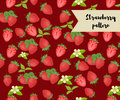 Vector strawberry seamless pattern. background, pattern, fabric design, wrapping paper, cover