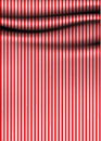 Vector stripped drapery soft cloth with stripes much space for your content decorative emelemnt clean retro design discreet color Royalty Free Stock Images