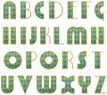 Vector stylized alphabet Royalty Free Stock Photo