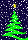Vector stylized Christmas tree Stock Images