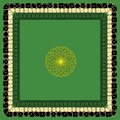 Vector Stylized Dice Mat Pattern On a Green Background Royalty Free Stock Photo