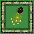 Vector Stylized Dice Mat Pattern, Mixing Cup and Throw. Possible Use in Design Solutions Royalty Free Stock Photo