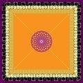 Vector Stylized Dice Mat Pattern On an Orange-Purple Background Royalty Free Stock Photo
