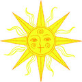 Vector stylized sun Stock Photo