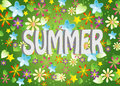Vector, Summer background Royalty Free Stock Photos