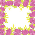 Vector summer background flowers Stock Image