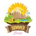 Vector summer campinng concept illustration