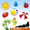 Vector summer icon Stock Photography