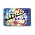Vector summer party flyer disco style. Night beach, dj