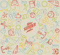 Vector summer pattern / background Royalty Free Stock Photo